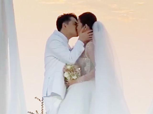 Đông Nhi khóc hôn đắm đuối Ông Cao Thắng trong siêu đám cưới 10 tỷ