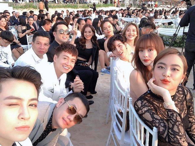 """Dự đám cưới Đông Nhi, Hoàng Thuỳ Linh công khai xuất hiện bên """"người yêu tin đồn"""" - 1"""