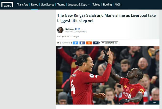 """Liverpool hạ đẹp Man City: Báo Anh sớm đón tân vương, kể tội """"hung thần"""" VAR - 1"""