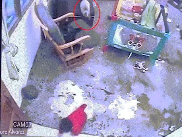 Video: Thấy bé một tuổi sắp rơi xuống cầu thang, con mèo lao tới với hành động gây kinh ngạc
