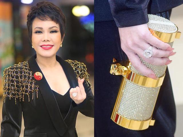 """Việt Hương """"gây choáng"""" khi đeo nhẫn kim cương gần 6 tỷ dự sự kiện"""
