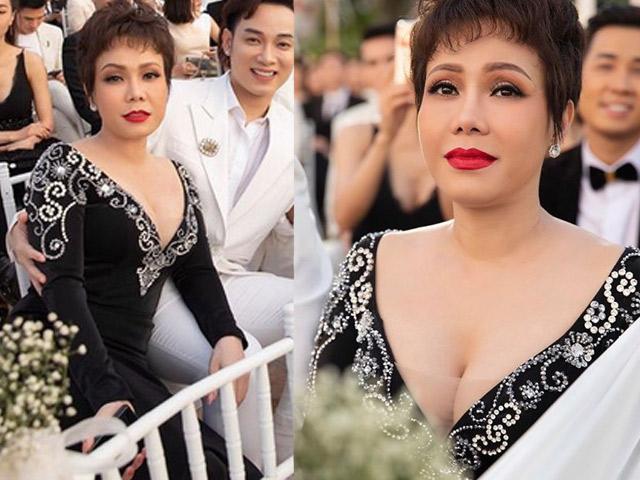 """Việt Hương nói về bộ váy """"hơi quá"""" trong tiệc cưới Đông Nhi"""