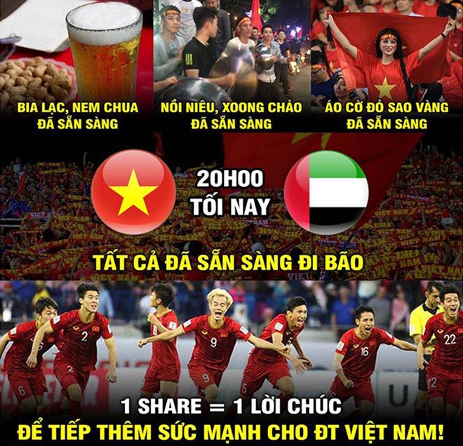 Cộng đồng mạng đã sẵn sàng cho cuộc đại chiến giữa Việt Nam và UAE - 1