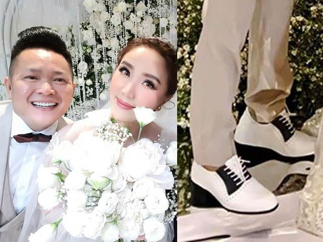 Chồng đại gia của Bảo Thy gây sốc, mang giày độn 15cm trong đám cưới 6 sao