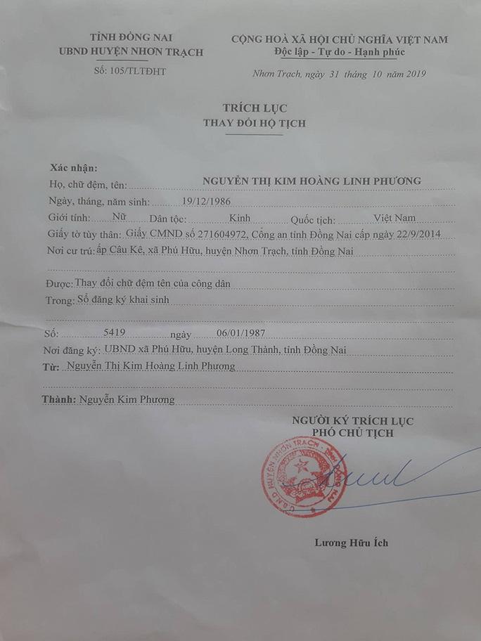 Diễn biến mới nhất vụ xin đổi tên vì quá dài của người phụ nữ ở Nhơn Trạch - 1