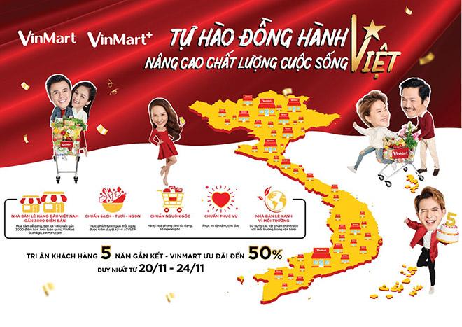 Vinmart & Vinmart + siêu khuyến mại mừng sinh nhật 5 tuổi - 1