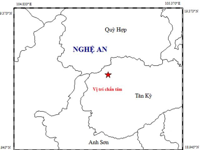 Động đất ở Nghệ An, nhiều nhà rung lắc mạnh