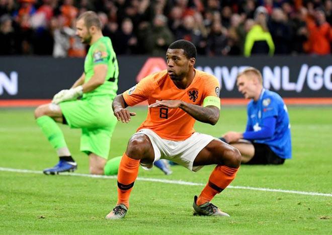 Video highlight trận Hà Lan - Estonia: SAO Liverpool rực rỡ hattrick - 1
