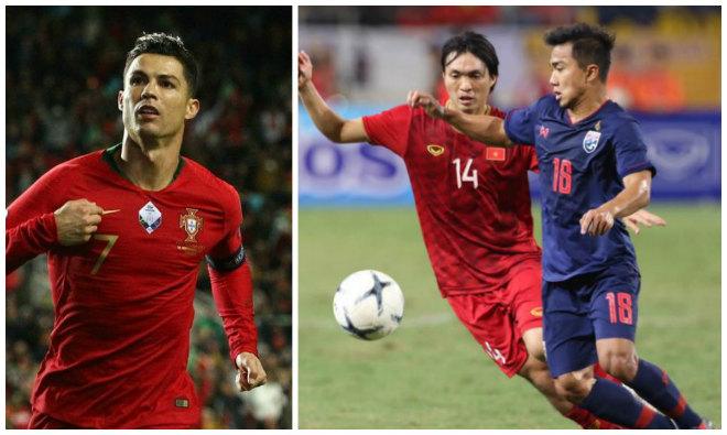 """Việt Nam hòa Thái Lan lập 2 kỳ tích bất bại: """"Khủng"""" hơn Bồ Đào Nha - Ronaldo - 1"""