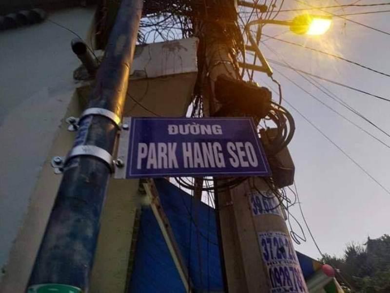 Tháo bảng tên đường mang tên HLV Park Hang-seo ở quận 9 - 1