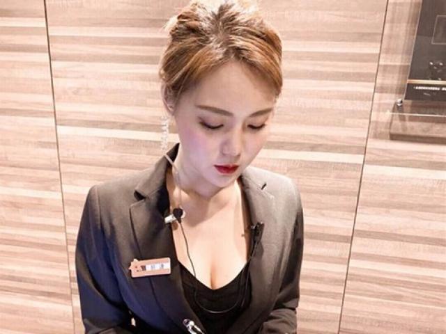 Bị chụp trộm, nữ nhân viên bán hàng nổi tiếng bất ngờ vì quá xinh đẹp