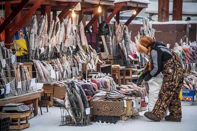 Đi chợ ở nơi lạnh nhất thế giới -50 độ có gì đặc biệt? - 1