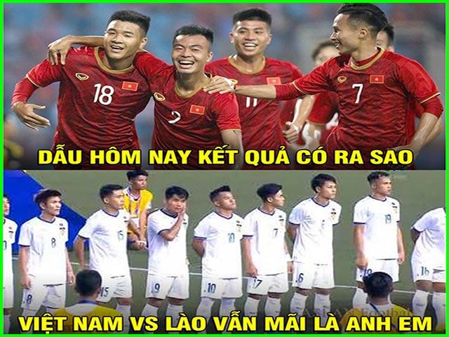 """U22 Việt Nam hủy diệt U22 Lào, dân mạng chế ảnh """"mãi là anh em"""""""