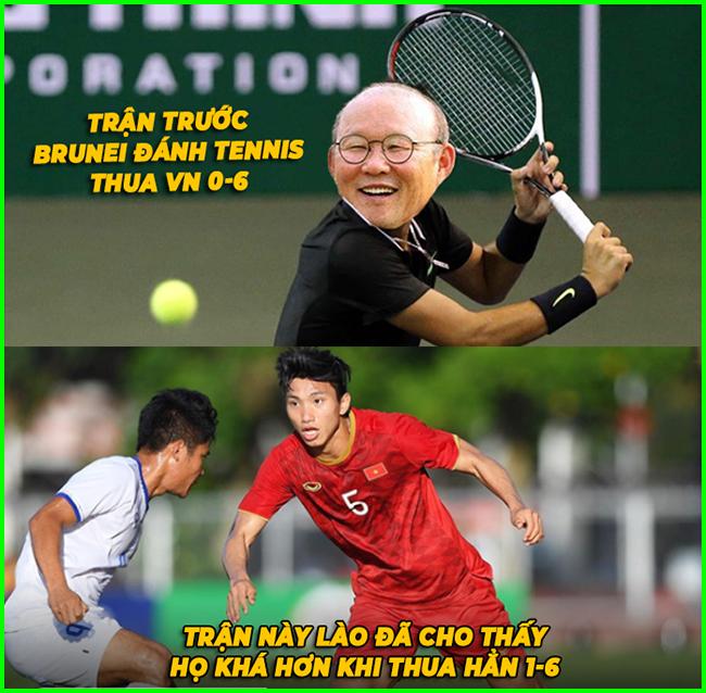 U22 Lào khá hơn U22 Brunei khi ghi được bàn thắng vào lưới U22 Việt Nam.