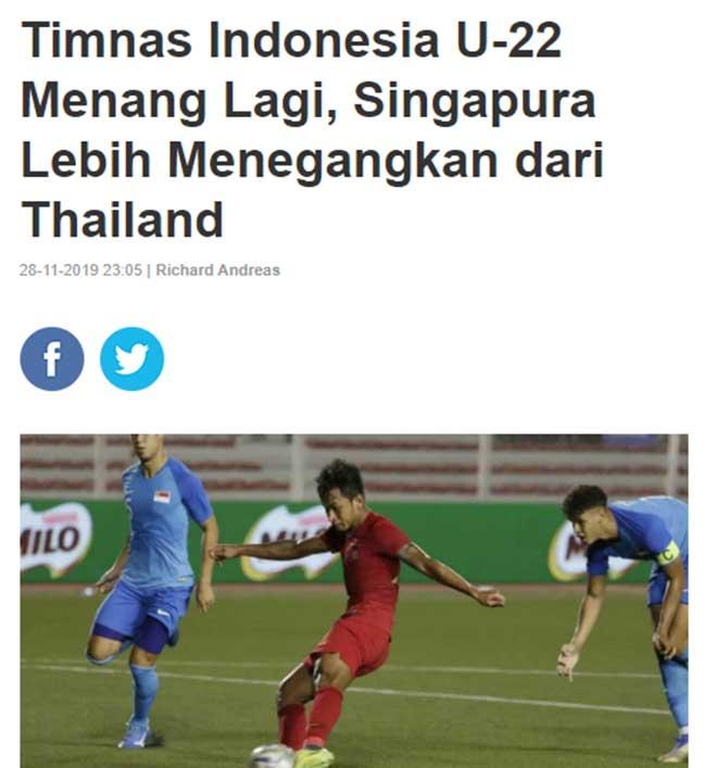 Báo Indonesia mạnh miệng tin U22 Việt Nam không muốn đá với U22 Indonesia - 1