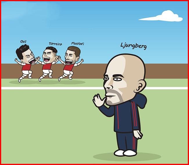 Ljungberg được bổ nhiệm làm HLV tạm quyền của Arsenal.