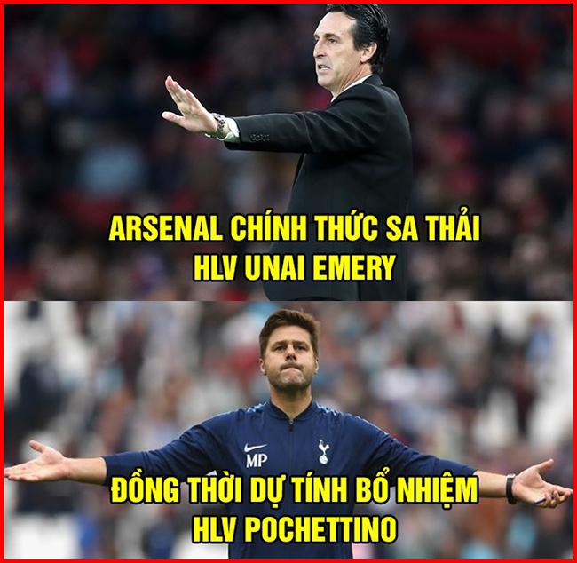 Và dự tính người thay thế Emery sẽ là Pochettino.