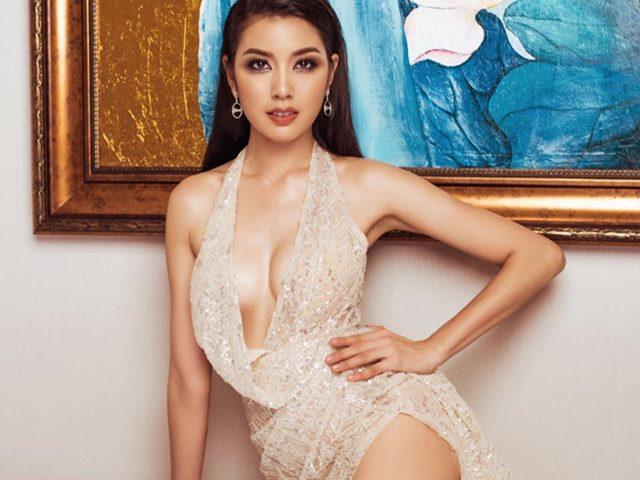 """Á hậu Quốc tế mặc chiếc váy """"độc nhất vô nhị"""" dự bán kết Miss Universe VN"""