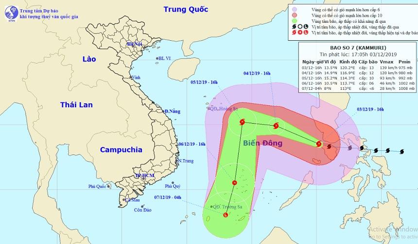 Chính thức: Bão Kammuri giật cấp 16 vào Biển Đông trở thành bão số 7 - 1