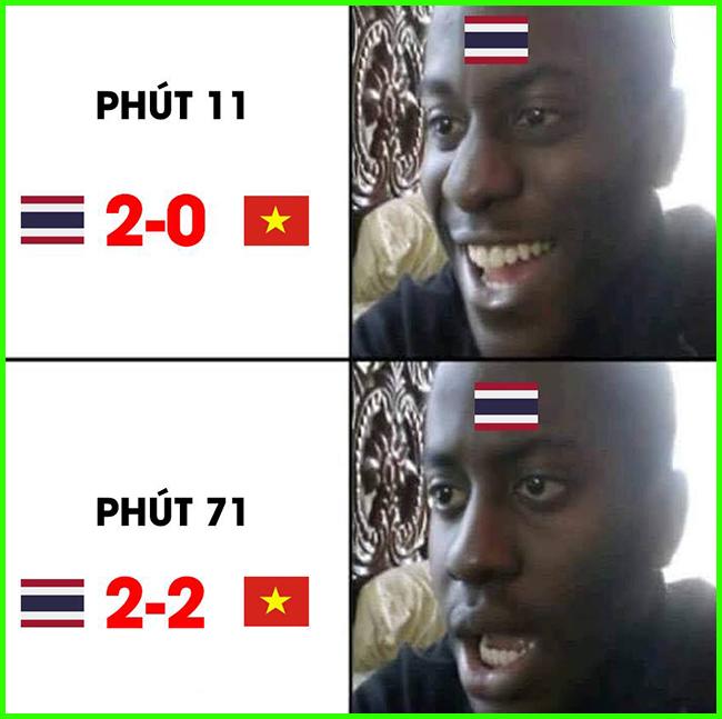 Cảm xúc của fan Thái Lan vào lúc này.