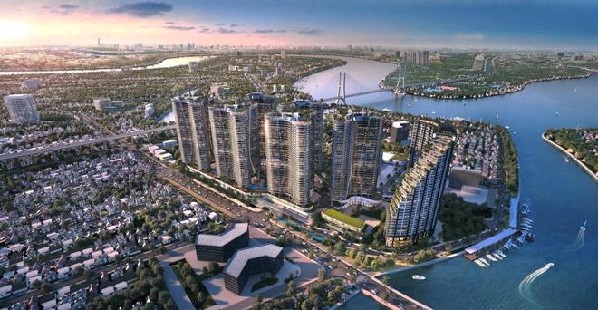 """Tổ hợp 16hồ bơi rộng 4.000 m2 tại dự án""""homes resort"""" ven công viên Mũi Đèn Đỏ Q7 - 1"""
