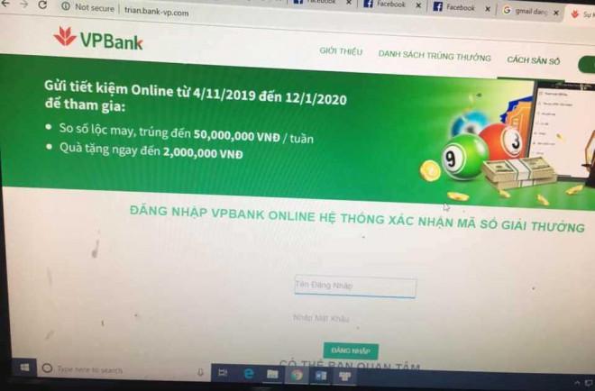 """2 phút, 18 giao dịch và 460 triệu đồng bị """"ngân hàng"""" giả mạo VPB lừa đảo - 1"""