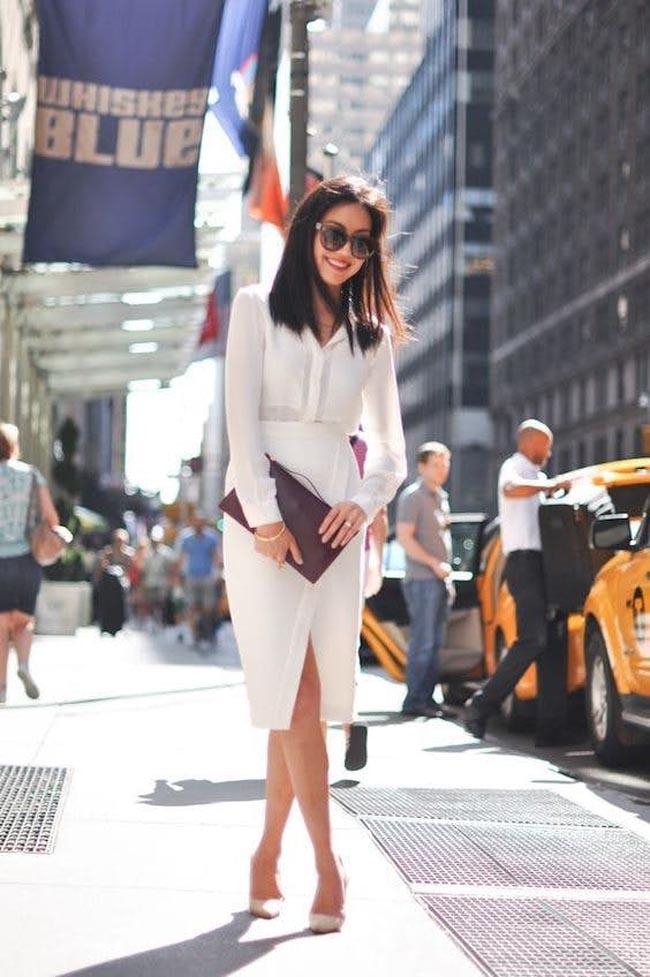 5 cách mix áo sơ mi trắng đi làm chẳng bao giờ nhàm chán - 1