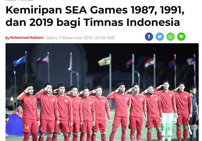 """Báo chí Indonesia chê U22 Việt Nam """"vua về nhì"""", tin HCV SEA Games trong tầm tay - 1"""