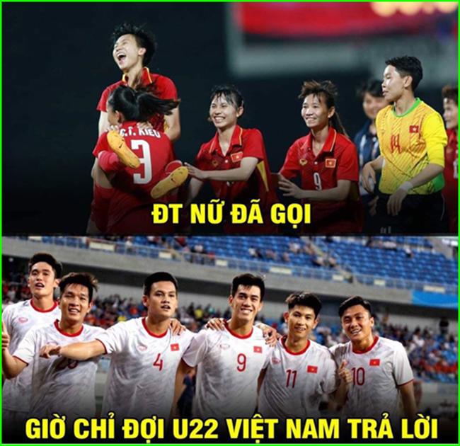 Chỉ còn chờ U22 Việt Nam đáp trả lời kêu gọi của đội tuyển nữ nữa thôi.