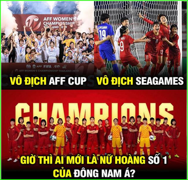 """Đội tuyển nữ Việt Nam xứng đáng là """"nữ hoàng"""" Đông Nam Á hiện tại."""