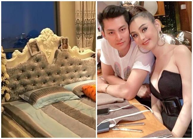 Một góc phòng ngủ của hai vợ chồng Lâm Khánh Chi - Phi Hùng.