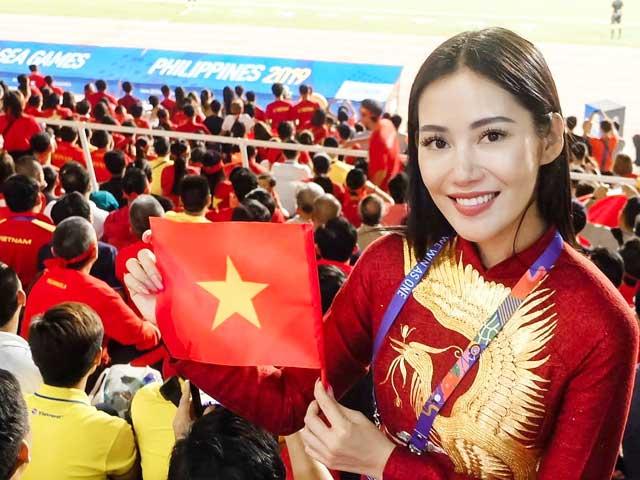 """""""Cuồng"""" gym, cổ động viên có vẻ đẹp nóng rực từng gây sốt trận Việt Nam thắng Indo"""