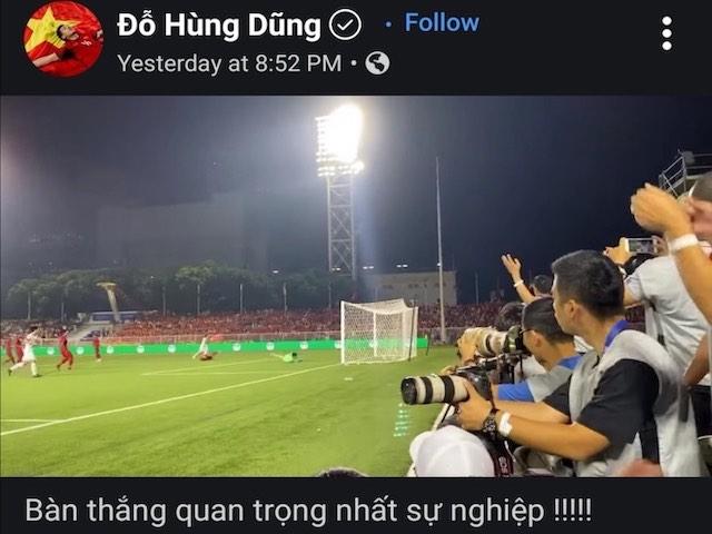 """Lấy vàng SEA Games 30, 11 cầu thủ """"hot"""" nhất U22 Việt Nam viết gì trên Facebook?"""
