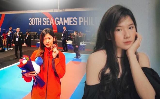 """""""Hot girl"""" Karate Việt Nam tham dự SEA Games 30: Mới gặp không ai nghĩ là một võ sĩ - 1"""