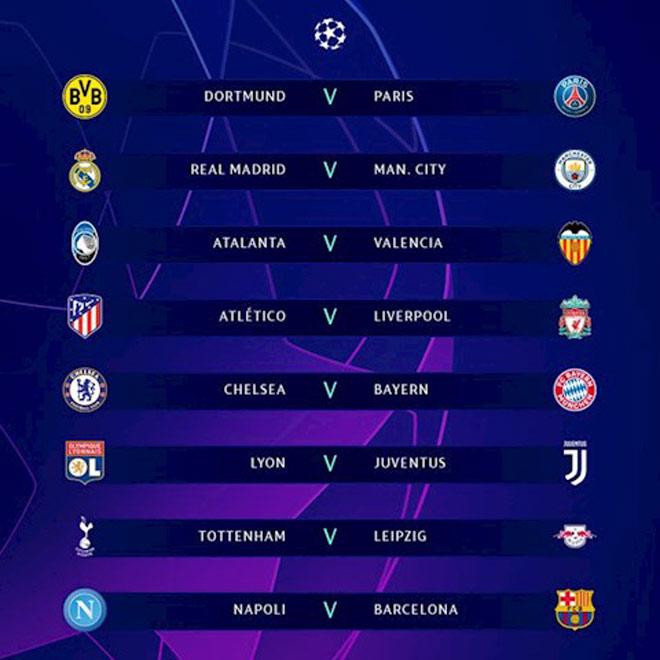 Bốc thăm vòng 1/8 Cúp C1: Real đụng Man City, Liverpool đấu Atletico - 1