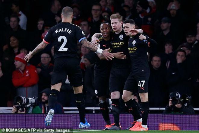 Video highlight trận Arsenal - Man City: Kịch bản không ngờ, kết liễu trong 40 phút - 1