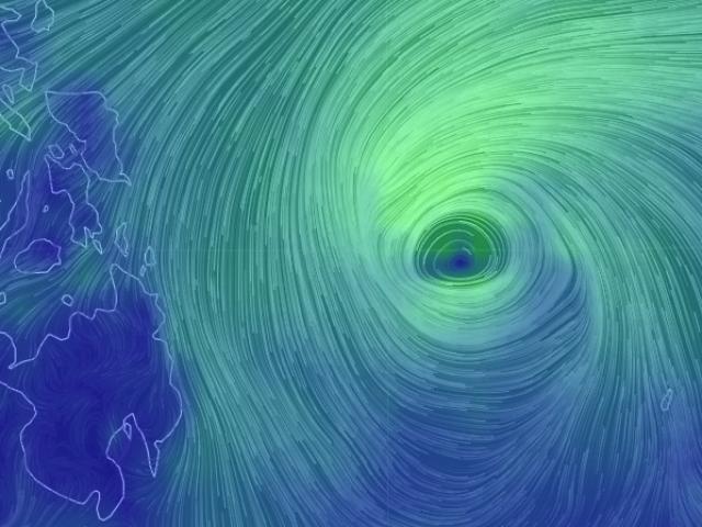 Xuất hiện cơn bão mạnh Phanfone đang hướng vào Biển Đông
