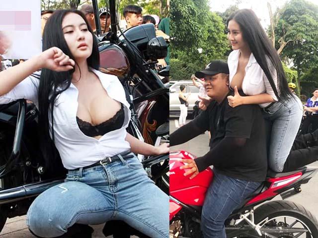 """Người mẫu Ngọc Phụng tái xuất """"Đại hội Motor miền Tây"""" gây tranh cãi"""