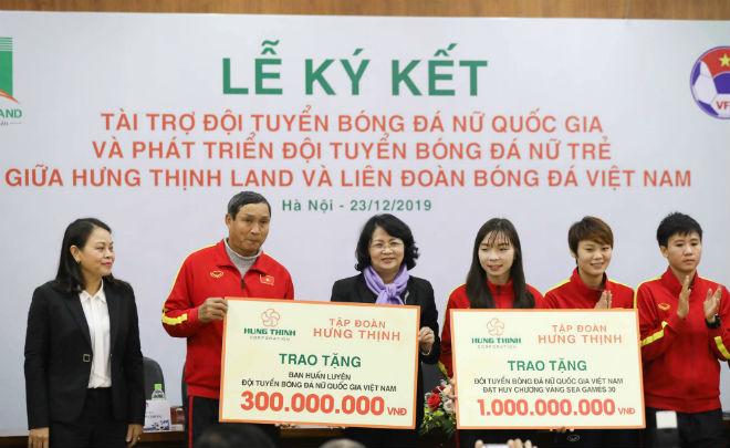 Hưng Thịnh Land tài trợ đội tuyển nữ Việt Nam 100 tỷ đồng hướng tới chiến công mới - 1