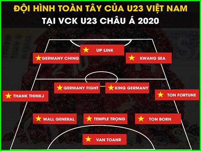 """Dân mạng phấn khích với đội hình """"toàn Tây"""" của U23 Việt Nam"""