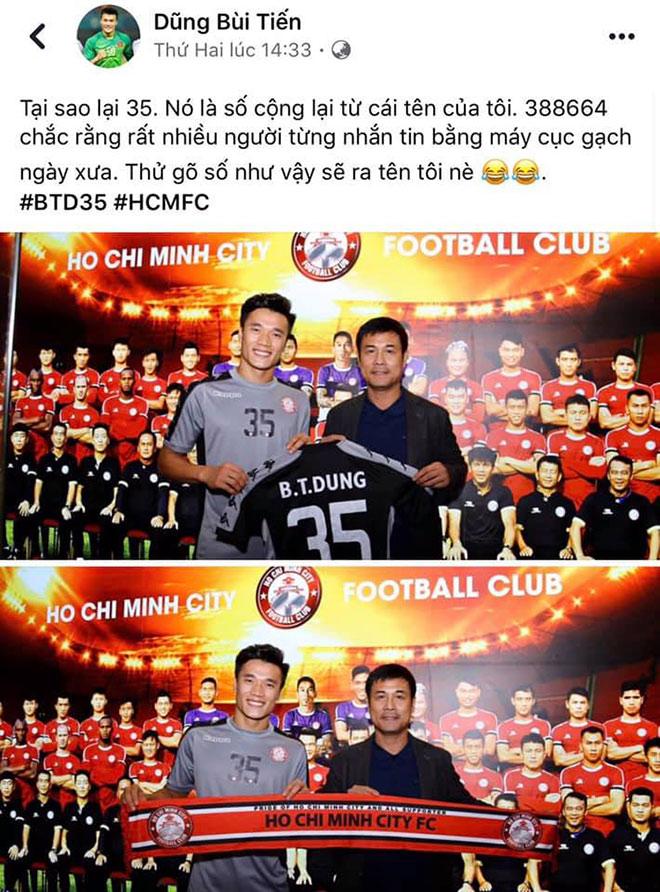 Lý giải vì sao Bùi Tiến Dũng chọn số áo 35 khi thi đấu tại CLB TP.Hồ Chí Minh - 1