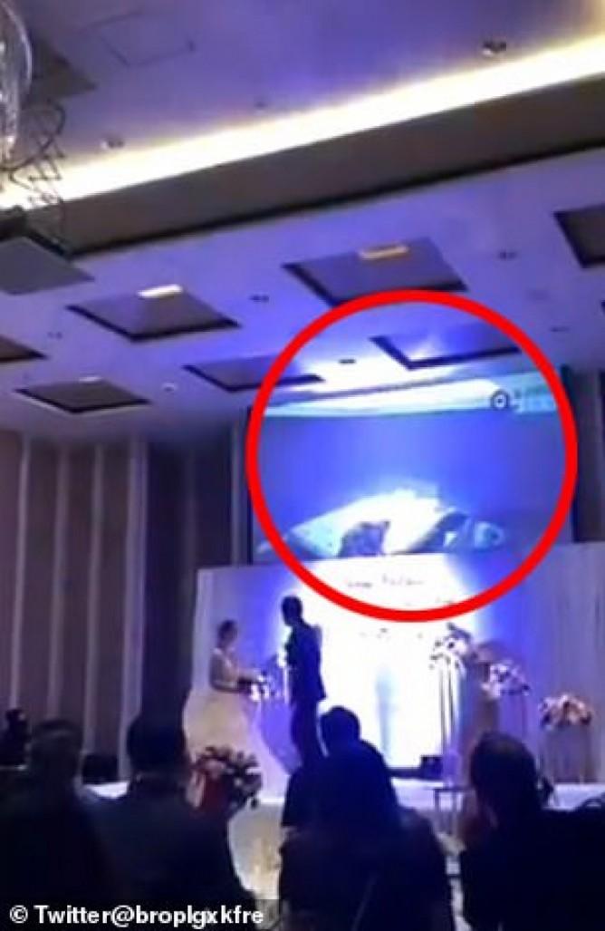 """Bị """"cắm sừng"""", chú rể tung clip nóng của cô dâu tại đám cưới? - 1"""