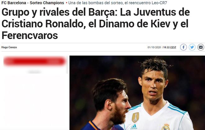 """Bốc thăm Cúp C1: Báo Anh lo MU gặp """"ác mộng"""", chờ """"kinh điển"""" Ronaldo - Messi - 4"""