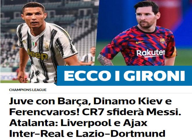 """Bốc thăm Cúp C1: Báo Anh lo MU gặp """"ác mộng"""", chờ """"kinh điển"""" Ronaldo - Messi - 6"""