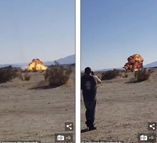 Video: Khoảnh khắc tiêm kích Mỹ trị giá 100 triệu USD lao xuống đất nổ tung - 1