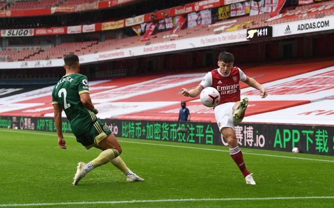 Video highlight trận Arsenal - Sheffield: Chóng vánh 2 bàn thắng, phút cuối nghẹt thở - 1