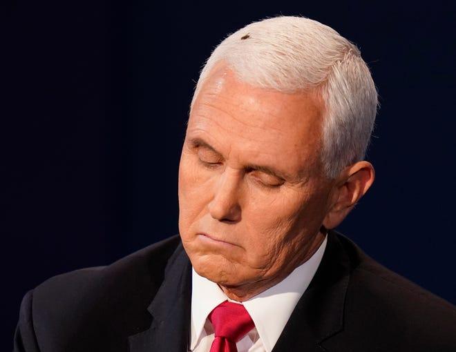 """Video: """"Khách không mời"""" trên đầu Phó Tổng thống Mỹ và phản ứng bất ngờ của ông Biden - 1"""