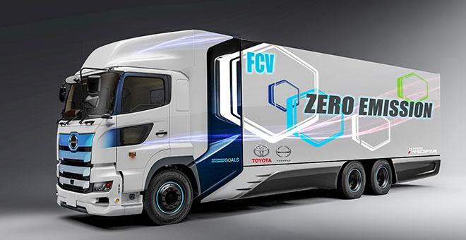 Hai thương hiệu Nhật hợp tác sản xuất xe đầu kéo sử dụng động cơ điện - 1