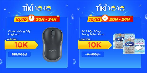 Dịp 10.10 trên Tiki: Hàng loạt sản phẩm siêu hot giá chỉ 10K - 1