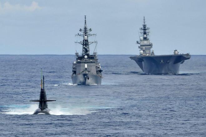 Nhóm tàu chiến Nhật Bản tập trận chống ngầm ở biển Đông - 1
